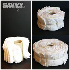 Step by step DIY Diaper cake tutorial! http://savvystyle.net/2013/08/23/diy-diaper-cake-tutorial/