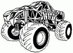 Free Printable Monster Truck coloring page for boy Summe