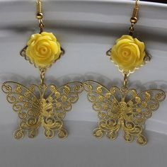 Filigree butterfly Earring