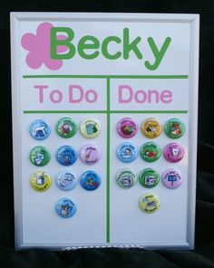 Personalized Childrens Magnetic Chore Chart by customstuff4kids, $25.00