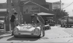 Dean in Sherman Oaks fueling up Sept. 30,1955