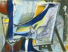 """Pablo Picasso - """"The Artist and His Model V"""", 1963"""