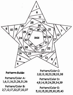 Paper Piecing Patterns Free Printables | Iris Folding @ CircleOfCrafters.com: Star Pattern