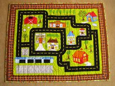 Planes, Trains, and Automobiles Play Mat Quilt Patchwork Quilting, Quilting Board, House Quilts, Boy Quilts, Sewing Crafts, Sewing Projects, Sewing Ideas, Map Quilt, Quilt Making