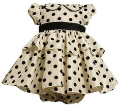 Baby girl clothes diy   ... Baby-girls Infant Flocked Dot Dress With Peter Pan Collar: Clothing