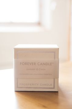 the Forever Candle in Lavender & Citron