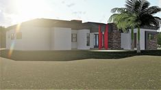 3 Bedroom House Plan - My Building Plans South Africa Building Plans, Building A House, Architect Fees, Single Storey House Plans, Construction Drawings, Marketing Budget, Bedroom House Plans, Windows And Doors, Mj