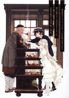 Kujo & Victorique in Gosick! Love this show!