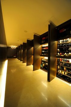 wall of shoes!! Omg!