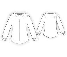 Blouse - Sewing Pattern #4420. Made-to-measure sewing pattern from Lekala with free online download.