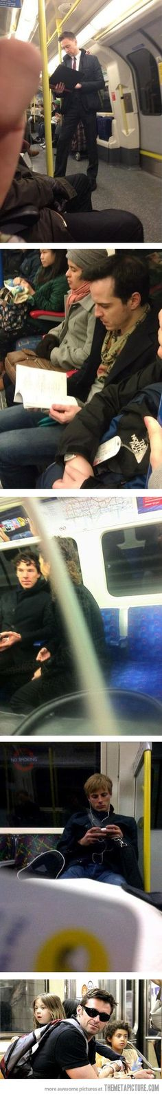 Holy TARDIS I would die! I have enough trouble not staring at random citizens that I find attractive.