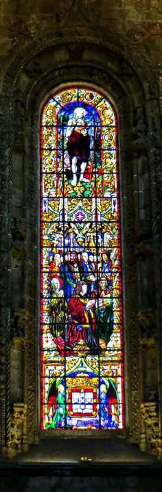 Window Panel -stained glass- in Jeronimos Monastery - Belem | Portugal