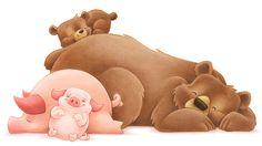 Sleeping Boars by Aaron Zenz