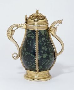 Ewer  Place of origin: Malines (mount, made)  Date: 1468-1491 (made)  Artist/Maker: van Steynemoelen, Seger, born 1443 - died 1508 (mount, maker)  Materials and Techniques: Green porphyry with silver-gilt mounts