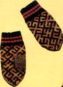 Вязаные рукавицы и варежки