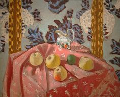 Still Life with Apples on a Pink Tablecloth by Henri Matisse