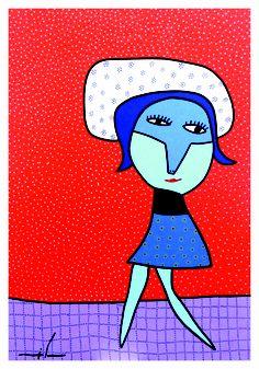 """Lot 52 - Milo Locket """"Sin título"""" Art Diary, Outsider Art, Red Cross, Smurfs, Art For Kids, Whimsical, Folk, Drawings, Illustration"""