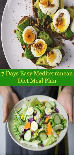 7 Days Easy Mediterranean Diet Meal Plan