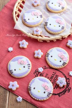 Cookie icing Hello kitty