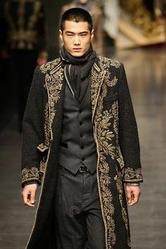 runway during the Dolce & Gabbana fashion show as part of Milan Fashion Week Menswear Autumn/Winter 2012on January 14, 2012 in Milan, Italy.