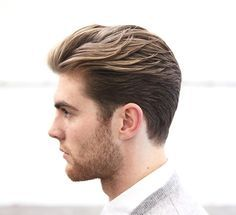 """""""To achieve a square, masculine shape doesn't mean you need to skin the sides or even clipper them at all. Love these cuts, a little longer on the sides..."""" S/O @ryandouglashair #mensstyle #hair #texture #length #hairstyle #class #mature #style #barber #morrismotley"""
