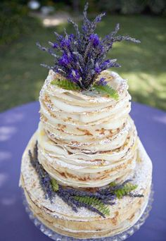 Provence lavender wedding cake