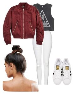 """""""Untitled #51"""" by georgiarose2008 on Polyvore featuring Topshop, adidas Originals and Kitsch"""