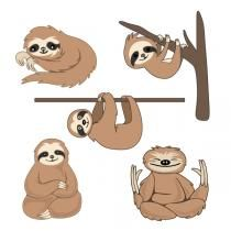 Sloth Pack SVG Cuttable Designs Baby Sloth, Cute Sloth, Apex Embroidery, Embroidery Designs, Sloth Drawing, Cutting Tables, Silhouette Cameo Projects, Cricut Creations, My Spirit Animal