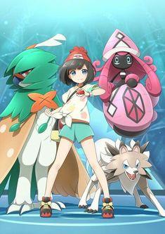 The trainer with Tapu lele and decidueye and lycanroc - Pokemon Pokemon Comics, Pokemon Fan Art, Solgaleo Pokemon, Pokemon Waifu, Pokemon People, Pokemon Games, Pikachu, Digimon, Anime Shows