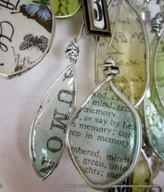 Snapping Monsters: Tutorials: Tissue Paper Pendants made with Ice Resin #FauxStainedGlass