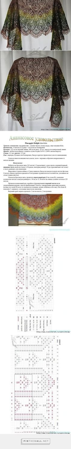 Trasparenze - created via http Knitting Charts, Lace Knitting, Knitting Stitches, Crochet Lace, Knitting Patterns, Crochet Patterns, Crochet Shawls And Wraps, Knitted Shawls, Crochet Scarves