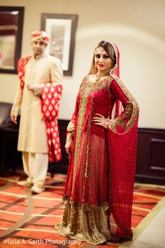 This Pakistani bride and groom celebrate with lovely portraits.