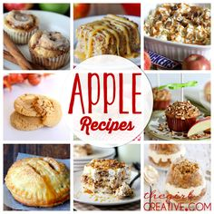 Delicious TO-DIE-FOR apple recipes! 21 amazing ones to choose from! It's apple picking season soon - pin this bad boy so you have it for later!!