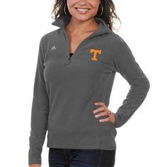 adidas Tennessee Volunteers Ladies Primary Logo Quarter Zip Jacket - Gray