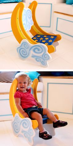 Hand Painted Children's Moon Chair