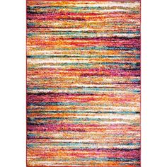With a beautiful pink and white coloring in an abstract pattern, this rug will be a stylish addition to your home. A soft pile and contemporary design make this rug a beautiful accent to any room.