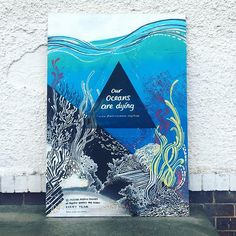 So many quality artists at the Nuneaton Graffiti festival today. Heres my piece. Thanks to @reelpeoplebyjames this guy is creating a great future to inspire the yout. Top man! Be the change you wish to see. - #painting #streetart #ocean #art #festival #nuneaton #aidybrooks #plasticfree #cleanocean #plasticocean #illustration #nextgeneration #community #spraypaint