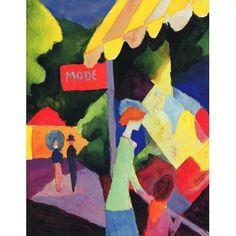 Fashion Window Canvas Art - August Macke (18 x 24)