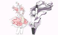 Anime Demon, Manga Anime, Anime Art, Madoka Magica, Character Drawing, Character Design, Sayaka Miki, Otaku, Oui Oui