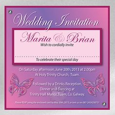 Butterfly Wedding Invitations and Stationery from On Silver Pond