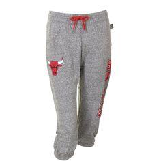 Chicago Bulls Ladies Warm Up Capri Pants - Gray