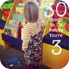 30 Things to Do Before You're 3 list