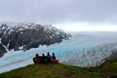 Hiking Exit Glacier in Seward, Alaska