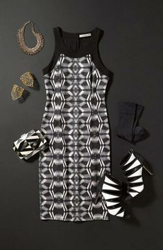 NYE Outfit: Mix black & white prints to pop!