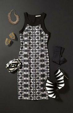NYE Outfit: Mix black & white prints to pop!
