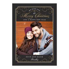 Classic Scroll Christmas Card / Holiday Photo Card