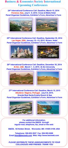 Business and Economics Society International (B and ESI) July 2014 Conference  2014 PD-pp QR-CODE created - scan and download your Professional Development information automatically to your mobile device. Simply ask for the QR CODE when you are at the Conference... And have a good time...