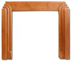 Chrysler Art Deco fireplace mantel: a 20s 30s Mantel from Twentieth Century Fireplaces