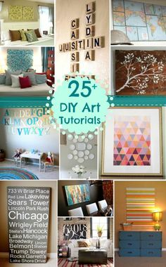 DIY Art Tutorials Remodelaholic
