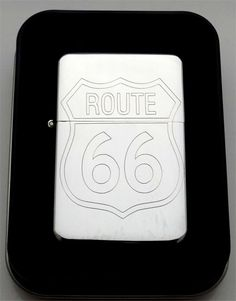 ROUTE 66 Highway Road American Engraved Chrome Lighter Biker Patch Gift LEN-0008
